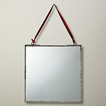 Buy Nkuku Kiko Mirror, Zinc, 20 x 20cm Online at johnlewis.com