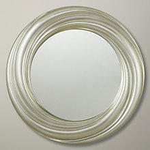Buy John Lewis Salon Swirl Mirror, Silver, Dia.68cm Online at johnlewis.com