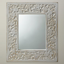 Buy Nkuku Darpna Wooden Mirror, 38.5 x 33.5cm Online at johnlewis.com