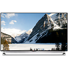"Buy LG 55LA970W LED 4K Ultra HD 3D Smart TV, 55"" with Freeview HD, 4x 3D Glasses and 2x Dual Play Glasses + Monster 1250 HD Digital HDMI Cable, 1m Online at johnlewis.com"