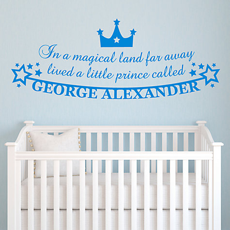 Buy Megan Claire Personalised Little Prince Wall Sticker Online at johnlewis.com