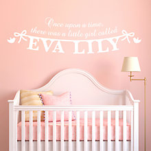 Buy Megan Claire Personalised Little Girl Wall Sticker Online at johnlewis.com