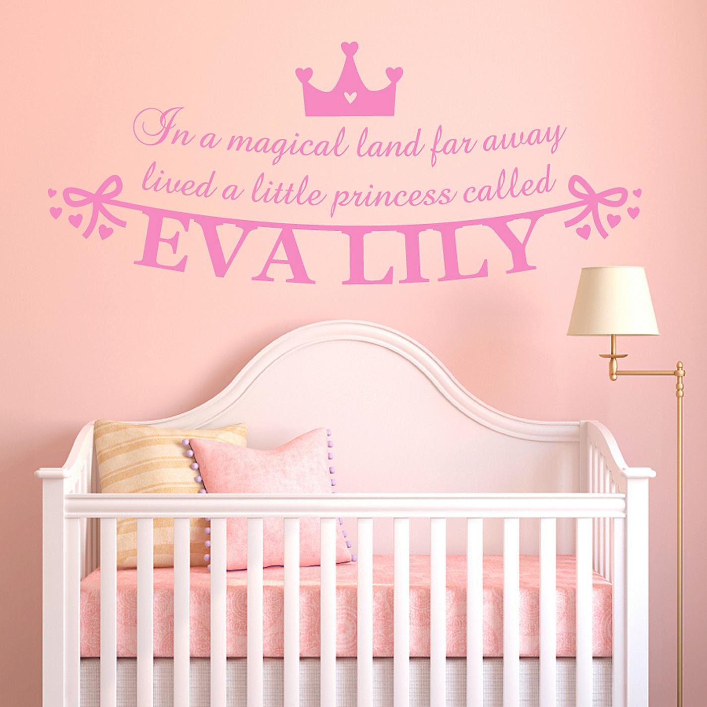 princess wall art stickers p wall decal pink princess castle fantasy princess colour wall sticker