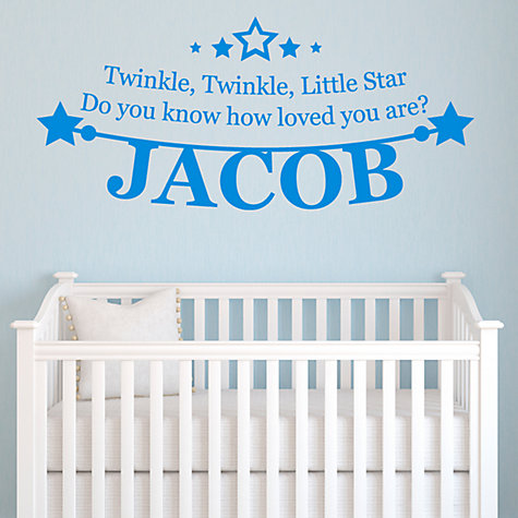 Buy Megan Claire Personalised Little Star Wall Sticker Online at johnlewis.com