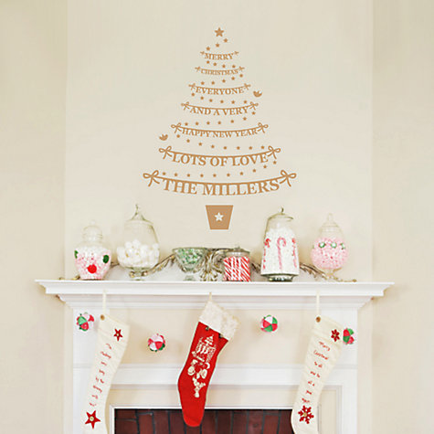 Buy Megan Claire Personalised Family Christmas Tree Wall Sticker, Medium Online at johnlewis.com