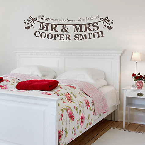 Buy Megan Claire Personalised Mr & Mrs The Happy Couple Wall Sticker Online at johnlewis.com