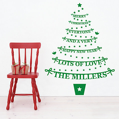 Buy Megan Claire Personalised Family Christmas Tree Wall Sticker, Large Online at johnlewis.com