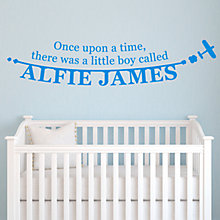 Buy Megan Claire Personalised Little Boy Wall Sticker Online at johnlewis.com
