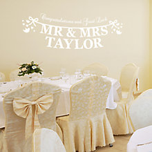 Buy Megan Claire Personalised Mr & Mrs Just Married Wall Sticker Online at johnlewis.com