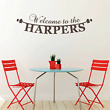 Buy Megan Claire Personalised Welcome to Our Home Wall Sticker Online at johnlewis.com