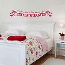 Buy Megan Claire Personalised Lovebirds Wall Sticker Online at johnlewis.com