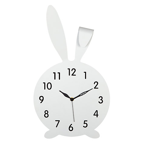 Buy Diamantini & Domeniconi Rabbit Wall Clock, White Online at johnlewis.com