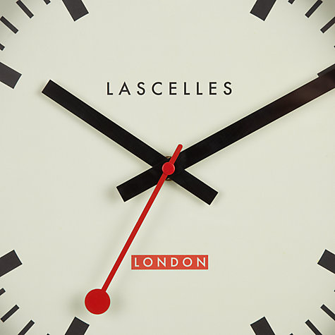 Buy Lascelles Swiss Wall Clock, White Online at johnlewis.com