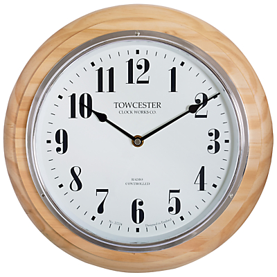 Image of Acctim Haswell Birch Radio Controlled Wall Clock, Natural