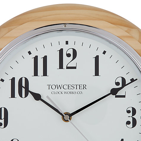 Buy Acctim Haswell Birch Radio Controlled Wall Clock, Cream Online at johnlewis.com