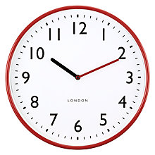 Buy John Lewis House Wall Clock, Red Online at johnlewis.com