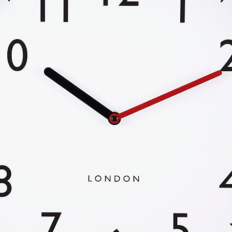 Buy House by John Lewis Wall Clock, Red Online at johnlewis.com