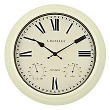 Buy Lascelles Outdoor Wall Clock, Cream Online at johnlewis.com