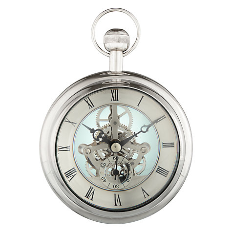 Buy Libra Paperweight Mantel Clock, Silver, Large Online at johnlewis.com