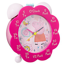 Buy Peppa Pig Alarm Clock, Multi Online at johnlewis.com