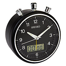 Buy Seiko Stopwatch Alarm Clock, Black Online at johnlewis.com