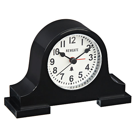 Buy Newgate Regal Alarm Clock, Black Online at johnlewis.com