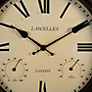 Buy Lascelles Outdoor Wall Clock, Black Online at johnlewis.com