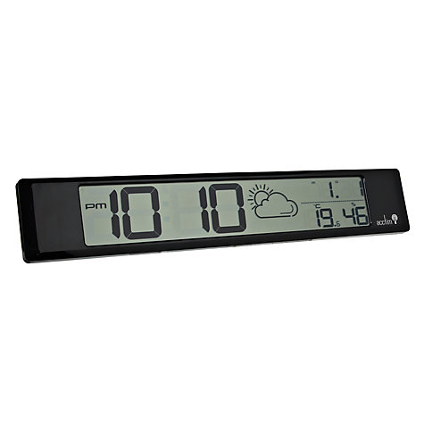 Buy Acctim Delano Digital Wall Clock, Black Online at johnlewis.com