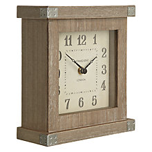 Buy Thomas Kent Hoxton Limed Mantel Clock, Cream Online at johnlewis.com