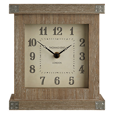 Buy Thomas Kent Hoxton Limed Mantel Clock Online at johnlewis.com