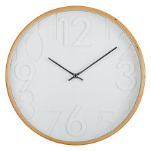 Buy Acctim Davey Wall Clock, White Online at johnlewis.com