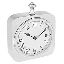 Buy Libra Belgo Mantel Clock, Large, Silver Online at johnlewis.com