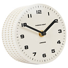 Buy Thomas Kent Scandi Mantel Clock, Cream Online at johnlewis.com