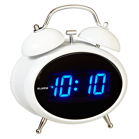 Buy Acctim Dexter Twin Bell Digital Alarm Clock, White Online at johnlewis.com