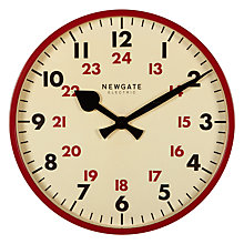 Buy Newgate Putney Wall Clock, Red Online at johnlewis.com