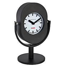 Buy Lascelles Retro Microphone Alarm Clock, Black Online at johnlewis.com