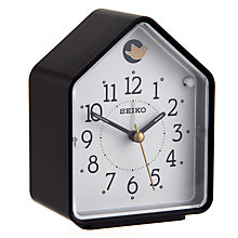 Buy Seiko Cuckoo Alarm Clock, Black Online at johnlewis.com