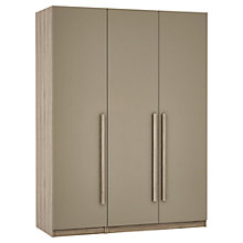Buy John Lewis Mixit Matt Wrapped Handles Triple Wardrobe, Stone/Grey Ash Online at johnlewis.com
