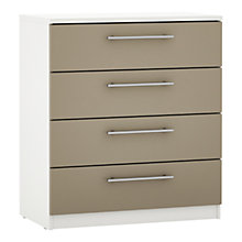 Buy House by John Lewis Mixit T-bar Handle Wide 4 Drawer Chest, Matt Stone Online at johnlewis.com