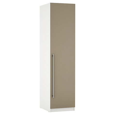 Buy House by John Lewis Mixit T-bar Handle Single Wardrobe, Matt Stone/White Online at johnlewis.com