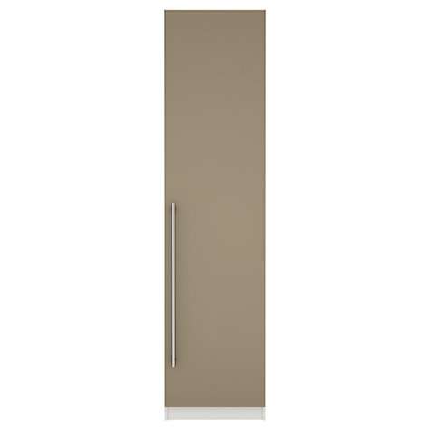 Buy House by John Lewis Mix it T-bar Handle Single Wardrobe, Matt Stone/White Online at johnlewis.com