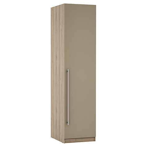 Buy House by John Lewis Mixit T-bar Handle Single Wardrobe, Matt Stone/Grey Ash Online at johnlewis.com