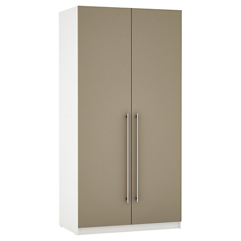 Buy House by John Lewis Mixit T-bar Handle Double Wardrobe, Matt Stone/White Online at johnlewis.com