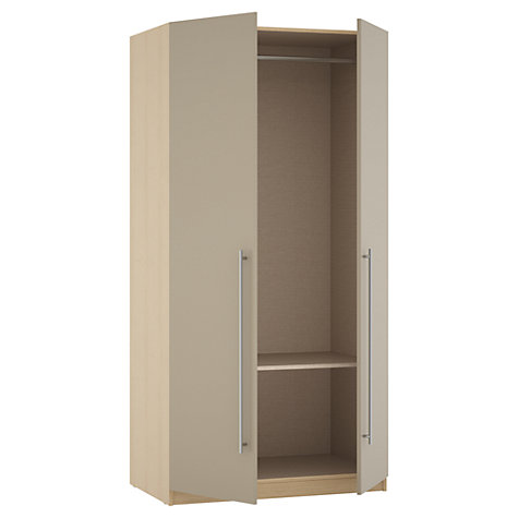 Buy House by John Lewis Mix it T-bar Handle Double Wardrobe, Matt Stone/Natural Oak Online at johnlewis.com
