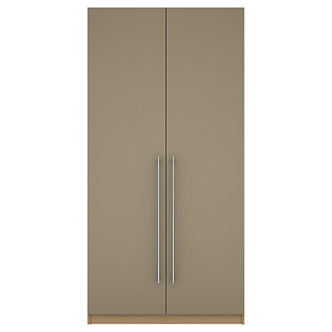 Buy House by John Lewis Mixit T-bar Handle Double Wardrobe, Matt Stone/Natural Oak Online at johnlewis.com