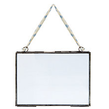 "Buy Nkuku Kiko Glass Landscape Photo Frame, Zinc, 5 x 7"" (13 x 18cm) Online at johnlewis.com"