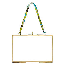 "Buy Nkuku Kiko Glass Landscape Photo Frame, Brass, 4 x 6"" (10 x 15cm) Online at johnlewis.com"