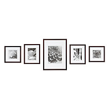 Buy Nielsen Gallery Perfect Multi-aperture Piece Frame, Walnut, 5 Photo Online at johnlewis.com