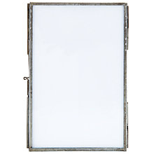 "Buy Nkuku Danta Photo Frame, Antique Zinc, 4 x 6"" (10 x 15cm) Online at johnlewis.com"