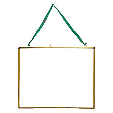 Buy Nkuku Kiko Glass Landscape Photo Frame, Brass, 8 x 10 (20 x 25cm) Online at johnlewis.com
